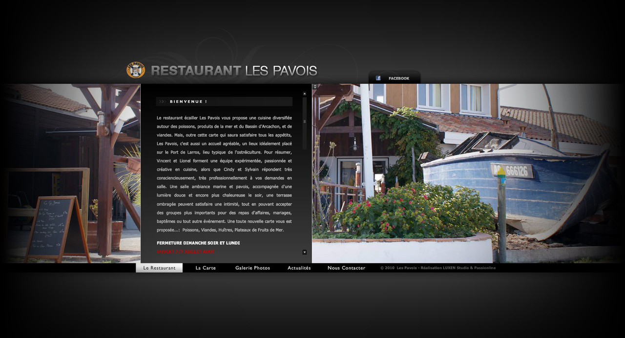 Site internet & Mobile : Restaurant Les Pavois